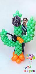 Пустинний кактус з повітряних кульок