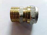 Згін металопластиковий диаметр16 х 1/2 зовнішня різьба