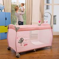 Манеж-кроватка Hauck Babycenter цвет Розовый, фото 1
