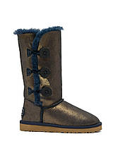 Зимние женские сапоги Угги Ugg Bailey Button Triplet Nappa (уги, угг австралия, оригинал) золотисто-синие