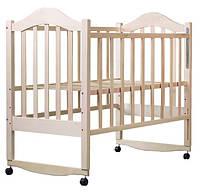 Детская кроватка из клена БЕЗ ЛАКА  боковина  ОПУСКАЕТСЯ , фото 1