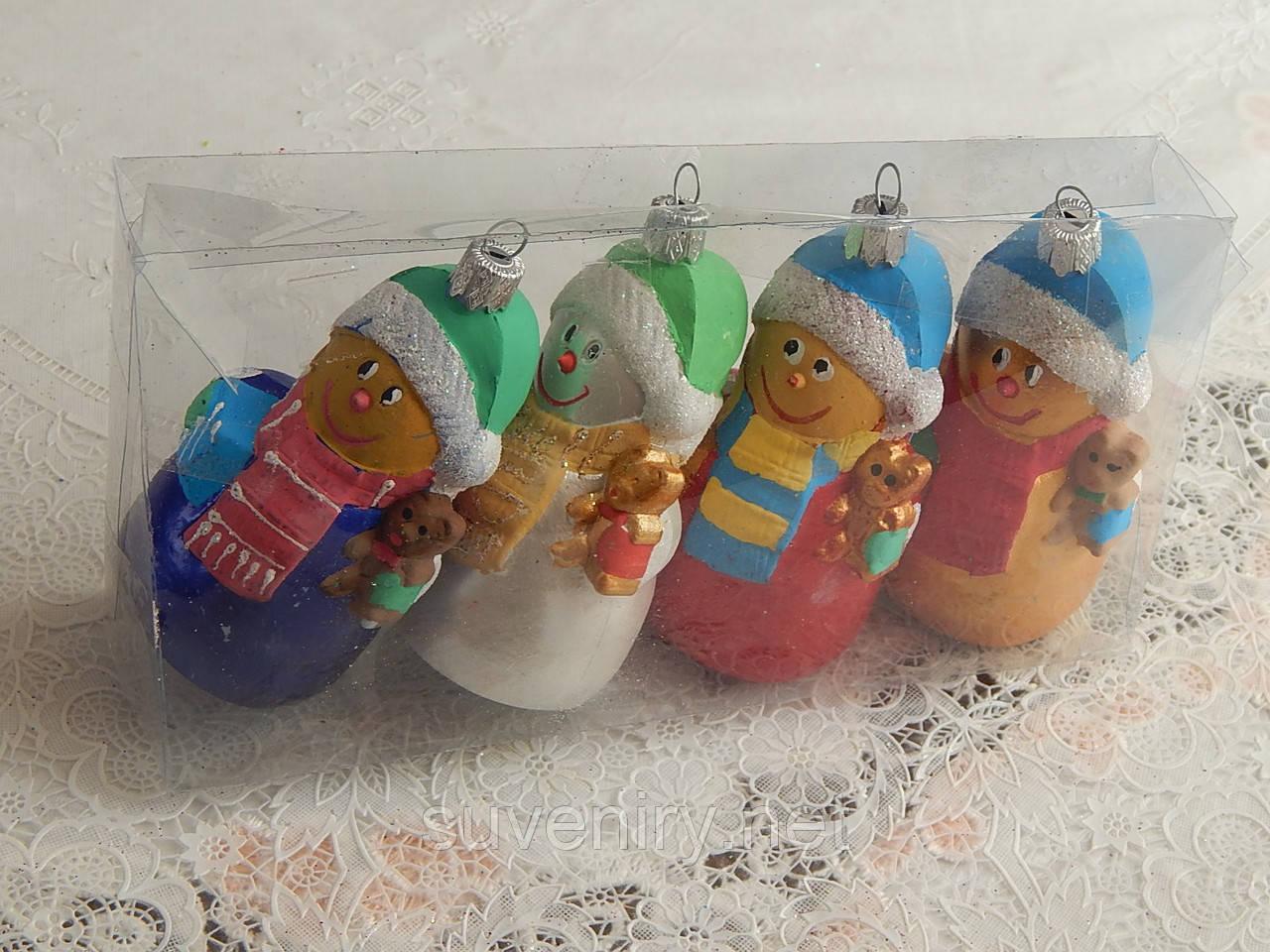 Набор елочных игрушек снеговиков