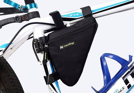 Подрамная вело сумка (треугольник) угловая Nanfeng