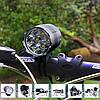 Велофара на 4-х диодах Cree XML-T6 + АКБ 10800mAh + зарядное + крепление