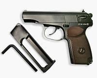 Пневматический пистолет Макарова ПМ + 2 балона СО2 в подарок!