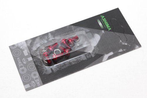 Болты алюминиевые Ashima для ротора, красные, 6 штук