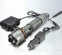 Фонарь со светодиодом Cree XM-L T6 910Lm, с зарядными устройствами.