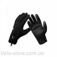 Теплые непродуваемые велоперчатки, осенние, демисезонные windstop