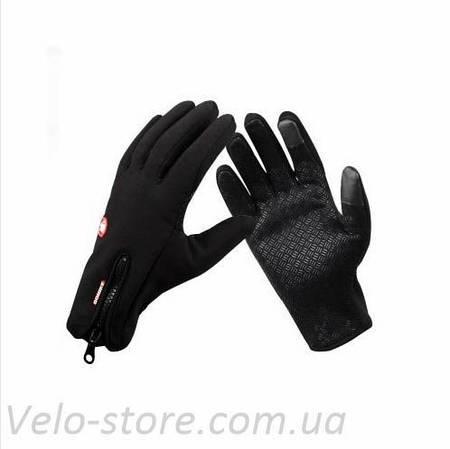 Теплые непродуваемые перчатки Windstop + Touch, велоперчатки