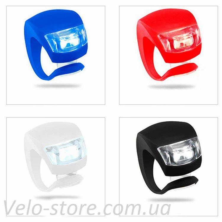 Силиконовые мигалки LED, цвета в ассортименте