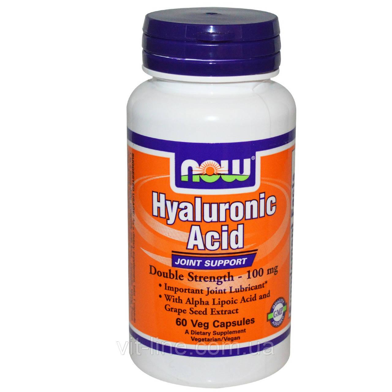 Гиалуроновая кислота от Now Foods 100 мг (60 капсул)