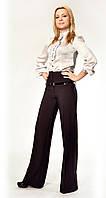 Женские брюки  (модель Мадонна) Атлас коричневый