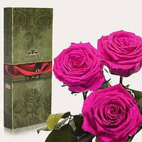долговечная роза в колбе Florich.Не вянет 5 лет! 3 розы.КРУПНЫЕ.7/36см