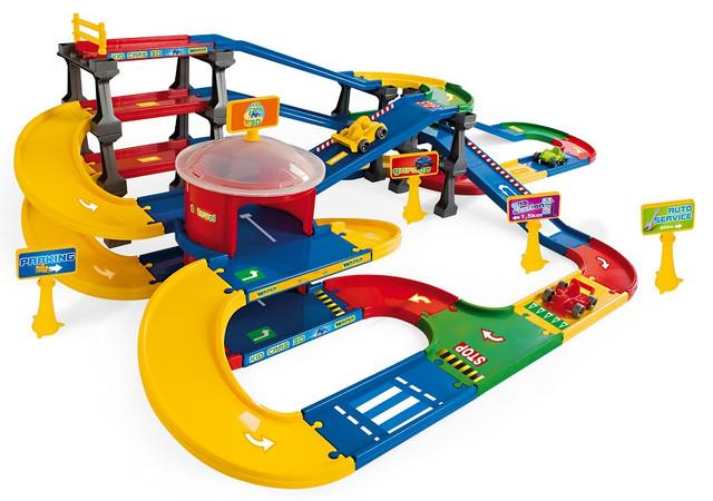 игрушка детская - парковка с гаражом пластмассовая.