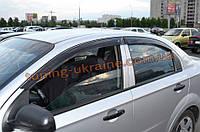 Дефлекторы окон (ветровики) COBRA-Tuning на CHEVROLET AVEO Sedan 2005-2011