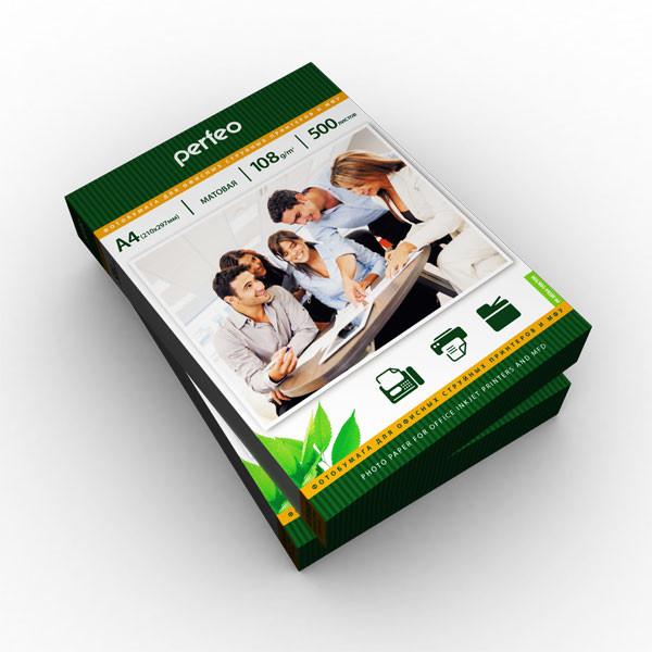 Фотобумага Perfeo матовая А4 108 г/м2, упаковка 500 листов
