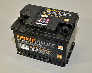 Аккумулятор LB2 50AH на Renault Kangoo II 2008-> — Renault (Оригинал) - 7711130088