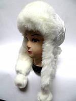 Модная тёплая шапка ушанка женская