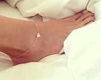Нежный браслет на ногу с подвеской Сердце, фото 1