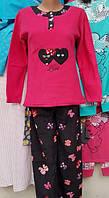 Теплая женская пижама №2039 флис