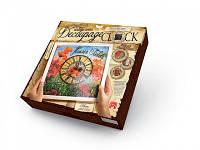 Часики - Decoupage Clock ДКС-01-04 Маки (з рамкою) Danko toys