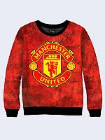 Оригинальный женский свитшот/толстовка Manchester United с принтом известной английской команды.