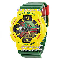 Часы Casio G-Shock GW-A1100 green yellow Класс-AAA