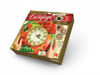 Часики - Decoupage Clock DKC-01-08 Маки Danko toys