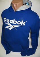 Молодежный мужской спортивный реглан Reebok - синий цвет