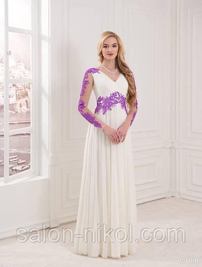 Вечернее, выпускное платье V-080