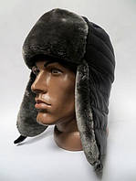 Модная шапка ушанка мужская