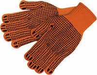 Перчатки трикотажные с точкой ПВХ оранжевые
