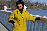 Модное шерстяное пальто