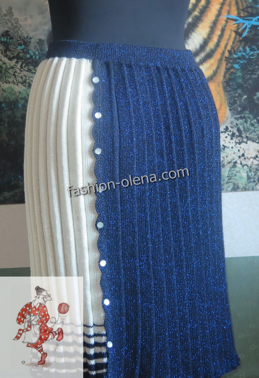 8ba73df1454 Вязаная юбка плиссе