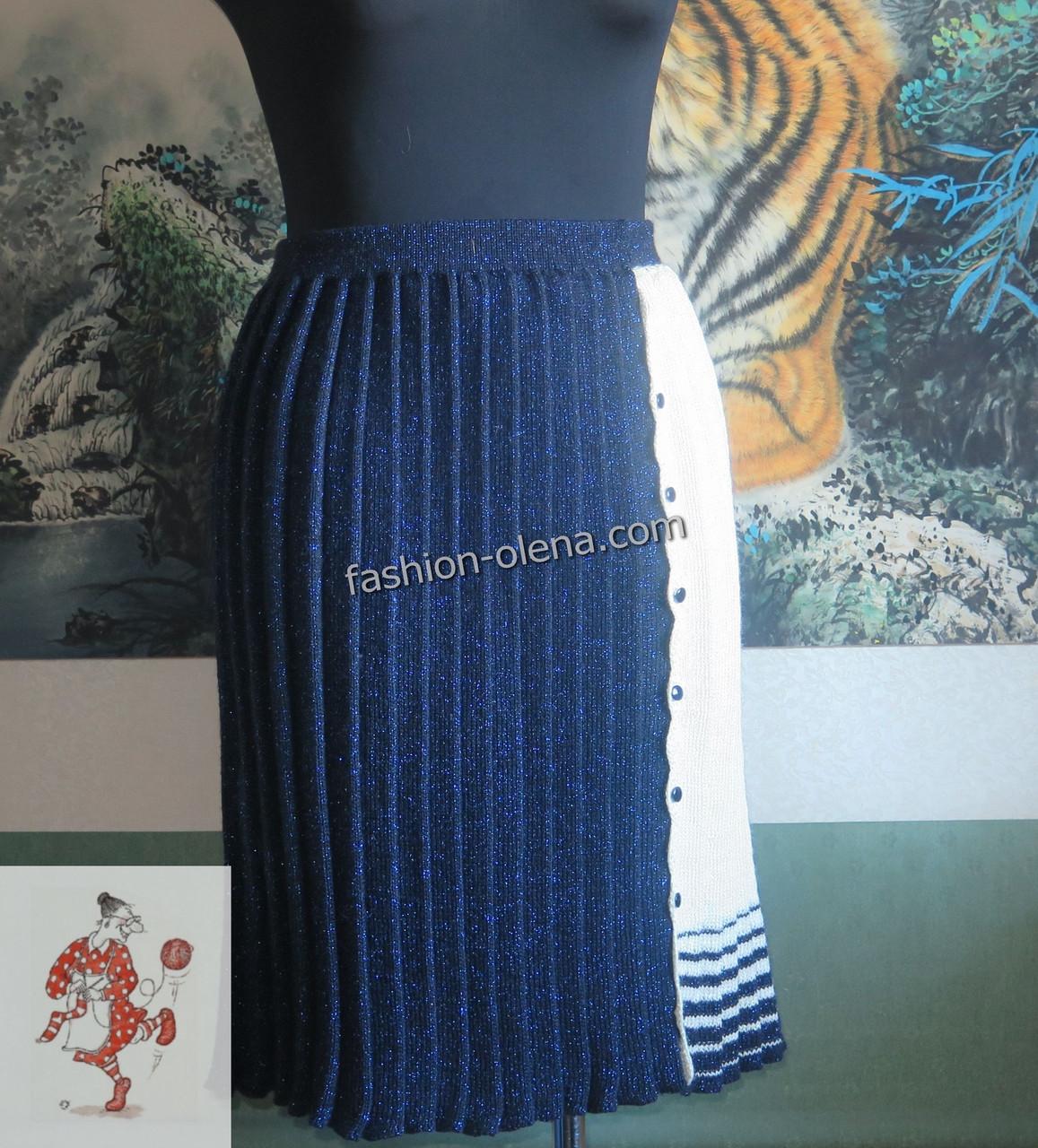 ee60b5c9e18 Вязаная юбка плиссе
