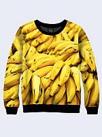 Женский стильный 3D-свитшот Bananas с красочным фотопринтом.