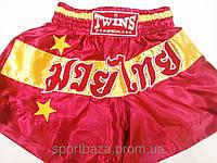 "Шорты для тайского бокса ""TWINS-RED"" размер XXL"
