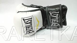 """Перчатки для смешанных единоборств MMA """"EVERLAST""""(р-р L,белый-черный)"""