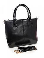 Женская кожаная сумка классика Black