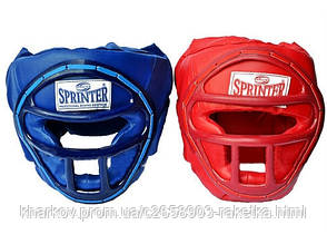 """Шлем боксёрский """"SPRINTER"""" закрытый с маской"""