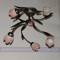 Кованая люстра под старину IMPERIA шестиламповая LUX-452461