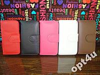 Чехол книжка для на IPhone 5 5S кожаная кошелек
