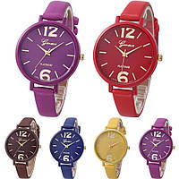 Женские наручные часы Geneva Jelly Candy на ремешке из экокожи коричневые.