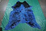 Сине черная шкура на пол бразильского производства, фото 3