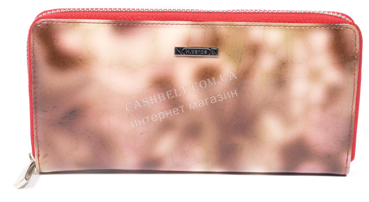 Оригинальный стильный женский кошелек барсетка с очень качественной кожи H.VERDE art. 2480-D53 розовый мрамор