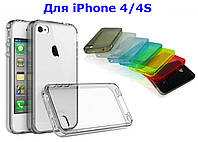 Чехол силиконовый прозрачный для IPhone 4 4S 5 5S айфон бампер