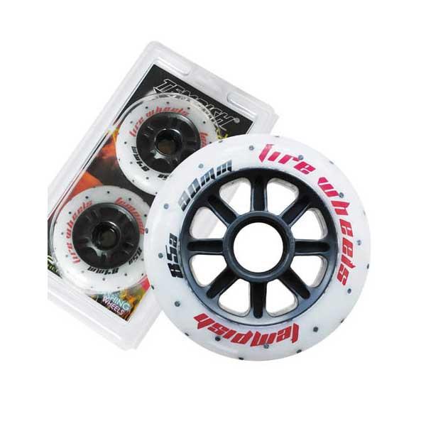 Колеса светящиеся для роликовых коньков Tempish FIRE 76x24 мм 85А, 2 шт (AS)