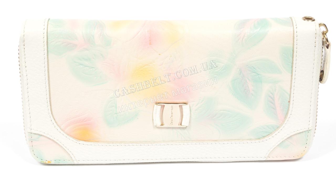 Стильный женский кошелек барсетка с очень качественной кожи LOUI VEARNER art. LOU009-011A листки