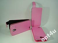 Чехол книжка кожзам искуственная кожа на для lenovo s650 розовый цвет