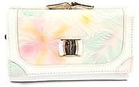 Оригинальный компактный женский кошелек с очень качественной кожи LOUI VEARNER art. LOU008-03A листки